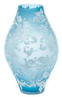 Glasvase Glas Blumen Vase Antik-Stil 35cm Tischvase im Stil des Nancy Jugendstil