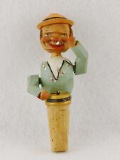 "Anri Wooden Machanical Bottle Stopper Drummer (4 3/4"" Long)"