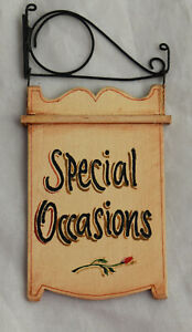 Vtg Dollhouse Miniature Special Occasions George Schlosser Iron Hanging Sign