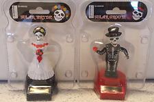 Solar Skeleton Bobble Head Dia De Los Muertos Bride Groom DOD Fiesta Wedding Toy