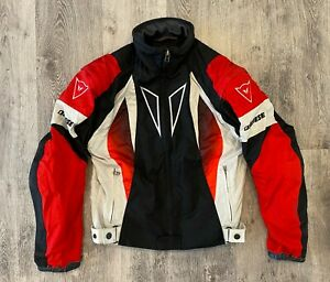 Dainese Motorcycle Jacket Vest Biker Textile Riding Red Size 46