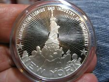 NICE! FRANKLIN MINT 50 STATES OF THE UNION - NEW YORK 39mm STERLING SILVER PROOF