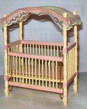 Nursery Canopy Crib Dollhouse Furniture Miniatures