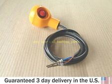JCB BACKHOE - YELLOW KNOB THREADED WITH MICROSWITCH (PART # 128/12635 701/D9775)