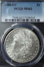 1880-CC Morgan Silver Dollar - PCGS MS 62