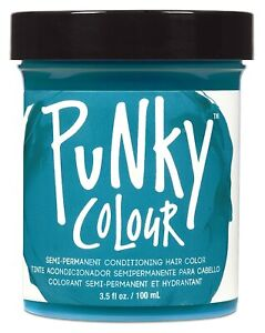 Punky Turquoise Semi Permanent Conditioning Hair Color 3.5oz Non-Damaging Hai...