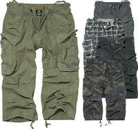 Brandit Herren Bermuda Cargo Shorts Kurze Hose Lange Short 3/4 Hose Neu S-XXL