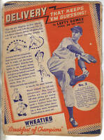 1939 Wheaties Cereal Panel, Series 12, Baseball, Lefty Gomez, New York Yankees
