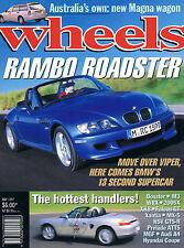 WHEELS May 97 BMW  Z4 M MGF VVC A6 Boxster Xantia CT Prelude VTi-R Falcon GT HSV