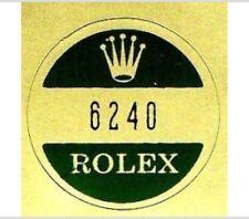 ROLEX 6240 Caseback Sticker Certificate Vintage Cosmograph Daytona Big Eye N.O.S