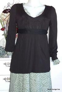 NOA NOA Shirt Basic Jersey Stretch Dunham XS 34 black schwarz Viskose Tunika