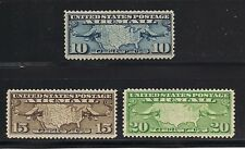 #C7-9 1926-27 10c,15c & 20c  MAP AND PLANES ISSUE VF-NH