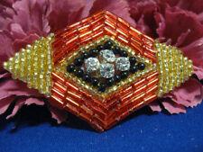 BUGLE BEADED RHINESTONE DIAMOND SHAPE APPLIQUE 0273-S3