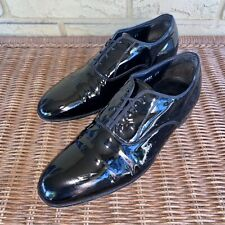 The Florsheim Shoe Men's 9.5 D Black Patent Leather Tuxedo Dress Shoes Oxford