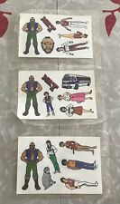 1983 Ruby Spears Enterprises Mr. T Cereal Box Stickers 3 Sheets Sealed NEW