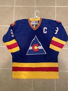LANNY McDONALD Colorado Rockies Throwback NHL Hockey Jersey 52 XL