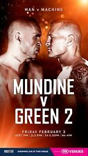 ANTHONY MUNDINE V DANNY GREEN 2 OFFICIAL POSTER PHOTO BOXING PRINT AUSTRALIA