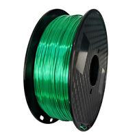 Silk Jade Green PLA Shiny Emerald Green 3D Printer Filament 1.75mm 1KG 2.2LBS