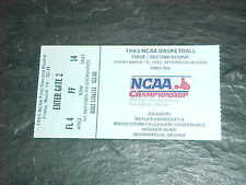 1993 NCAA Championship Basketball Ticket Indianapolis Louisville Cardinals
