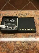 Alex and Ani BUTTERFLY Russian Silver Bangle Charity By Design NEW in Box