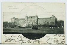DRESDEN Schutzen-kaserne Military 1901 to Nord Amerika Nebraska Postcard J13