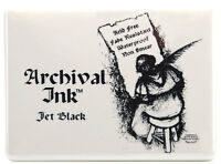 Ranger Archival Ink Jumbo Stamp Pad Jet Black Acid Free Permanent Waterproof
