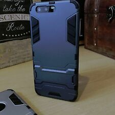 Huawei P10 PLUS High Impact Resistant Rugged CaseTough Balistic Shell Blue Black