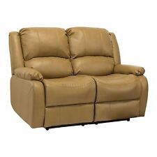 """RecPro™ Charles 58"""" Double RV Zero Wall Hugger Recliner Sofa Loveseat Toffee"""