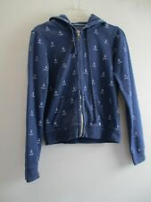 Aerie Women's Size Medium Blue Cotton Long Sleeve Full Zip Hoodie Jacket Coat