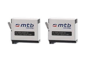 2x Batterie AHDBT-401 pour Gopro Hero4 Black, Silver Edition - 1160mAh Li-Ion!!