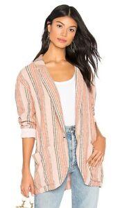 FREE PEOPLE Simply Stripe Blazer Jacket Size Small NWT $148