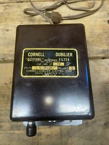 Vintage Cornell Dubilier CB, Ham Radio Noise Quietone IF18 Interference Filter