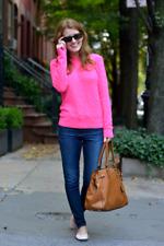 Ralph Lauren Black Label rose vif cashmere pull sweater slim fit Sz L Large