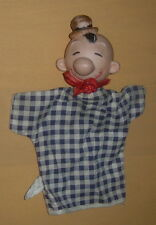 GUND  WIMPY  HAND PUPPET  C.1957  TAGGED  KING FEATURES  POPEYE