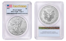 2021 $1 American Silver Eagle 1oz Dollar Type 1 PCGS MS69 First Strike