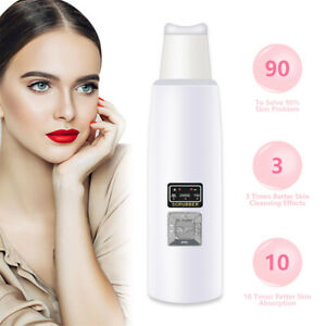 NEW Mini Ultrasonic Facial Skin Scrubber Vibration Cleansing Rechargeable