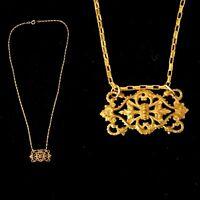 Vintage 1920s French Made Fleur de Lis Gothic Necklace Pretty!