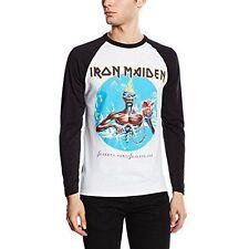 Iron Maiden Seventh Son Official Mens White Raglan Sleeve Baseball T Shirt XL