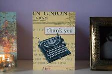 Cavallini & Co vintagetypewriter merci cartes - 10 cartes/enveloppes