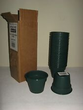 "*24* NEW USA MADE 4"" HEAVY PLASTIC FLOWER POTS CUTTINGS SEEDLINGS WASABI GREEN"