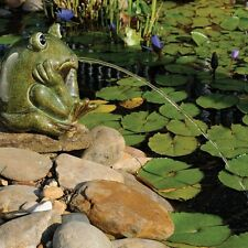 Ceramic Frog Water Spitter Pond Aerator Fountain Garden Outdoor Decorative New