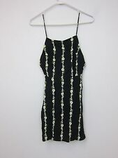 Motel Magali Slip Dress - Womens XS - Daisy Chain Black - NWT