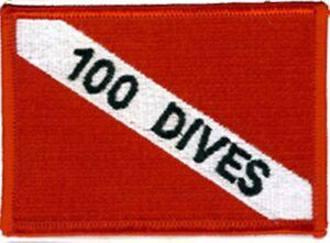 SCUBA DIVING - Dive 100 Patch  SC335