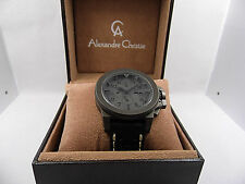 Alexandre Christie AC6364MCLEPDG Black Leather  48mm  Sports Gents  Watch