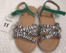 Cherokee Toddler Girls Strappy Sandals Size 11 Zebra Print