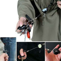 Heavy Duty Retractable Pull Reel Anti-Theft Key Chain Belt Clip ID Card Holder