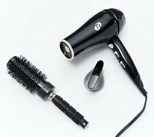 T3 Featherweight Luxe 2I Hair Dryer with Brush Gold Trim - Black