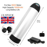 UK 36V10ah Lithium E-bike Bottle Battery for Power Electric Bicycle 350W+Charger