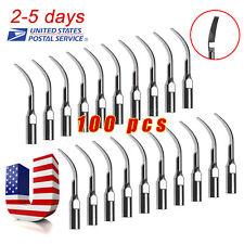100 Dental Ultrasonic Scaler Scaling Tip GD2 for SATELEC/DTE Handpiece 2-5 Ship