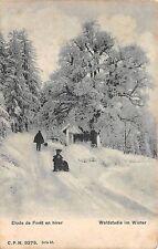 BR36801 Etude de foret en hiver Suisse     Switzerland